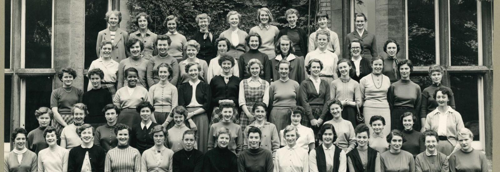 St Hilda's 1955 matriculation photograph
