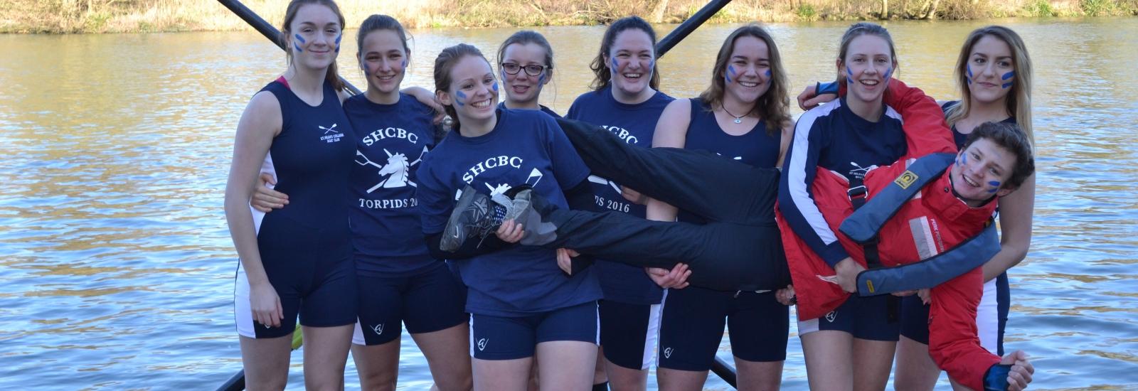 St Hilda's rowers