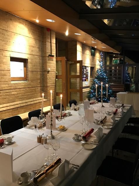 Evening event in the Brian Duke Foyer, Jacqueline du Pre Music Building, St Hilda's College