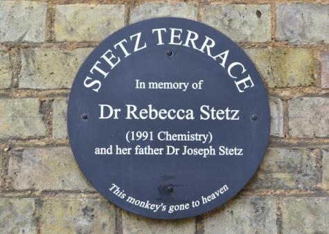 Rebecca Stetz memorial plaque, St Hilda's College