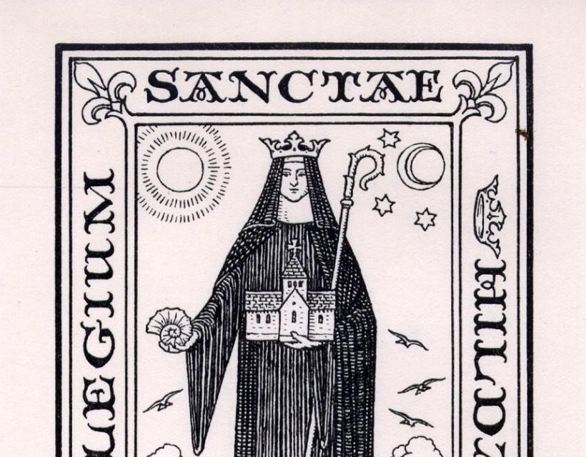 St Hilda's bookplate by E.H. New (1926)
