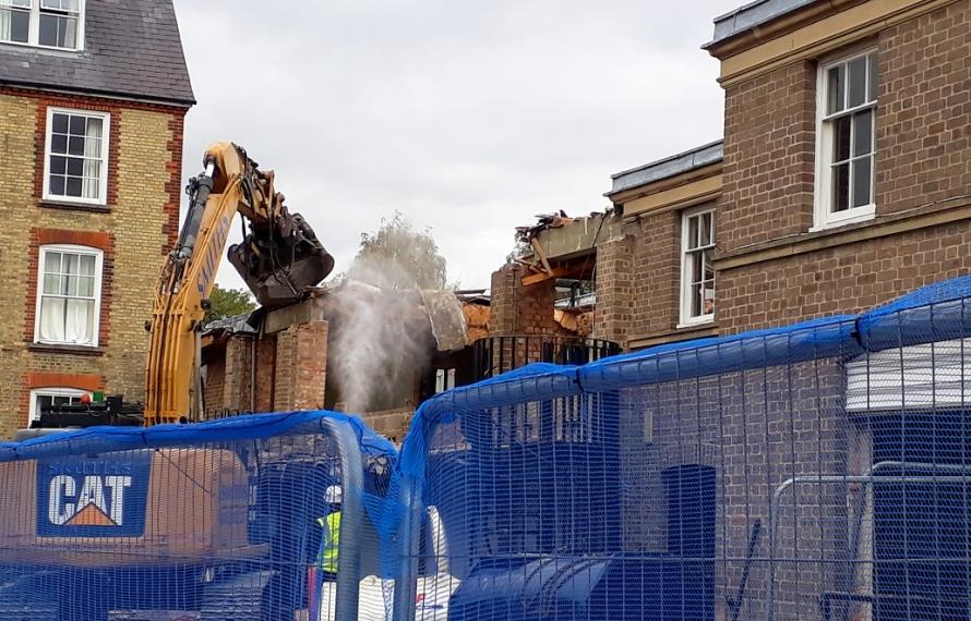 Demolition of the old MCR