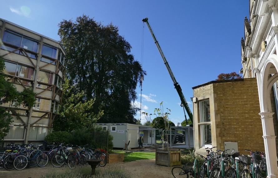 Installation of St Hilda's new MCR.